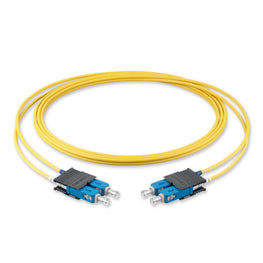 (5m) SC/UPC - SC/UPC Single Mode Fiber Optic Duplex Patch Cord - 2mm LSZH
