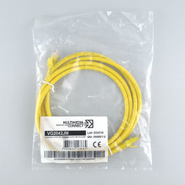 Cat6 Unshielded (UTP) Ethernet Network Cable PVC 2m Yellow Patch Cord
