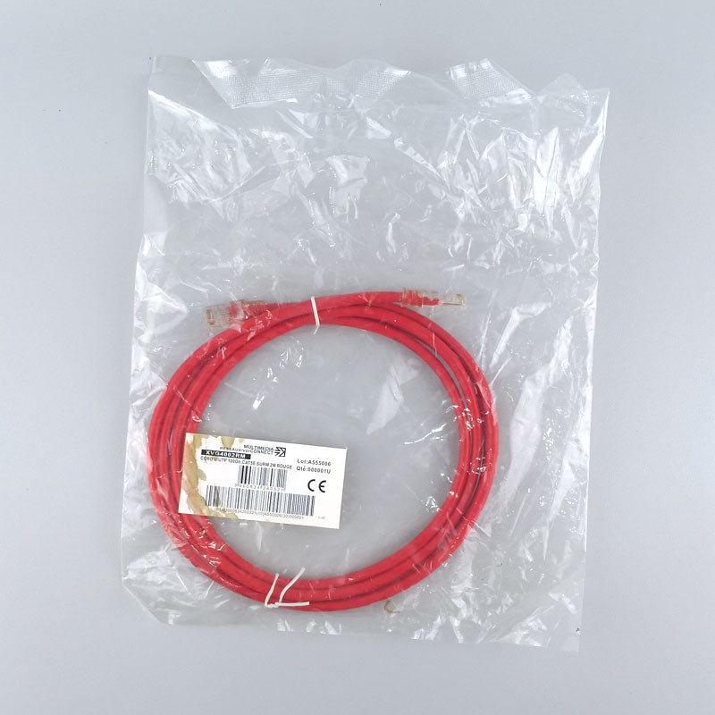 Cat5e Unshielded (U/UTP) Ethernet Network Cable PVC 2m Red Patch Cord
