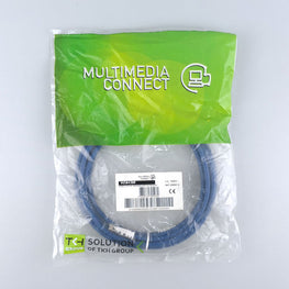 Cat6 Unshielded (U/UTP) Ethernet Network PVC 3m Blue Patch Cord