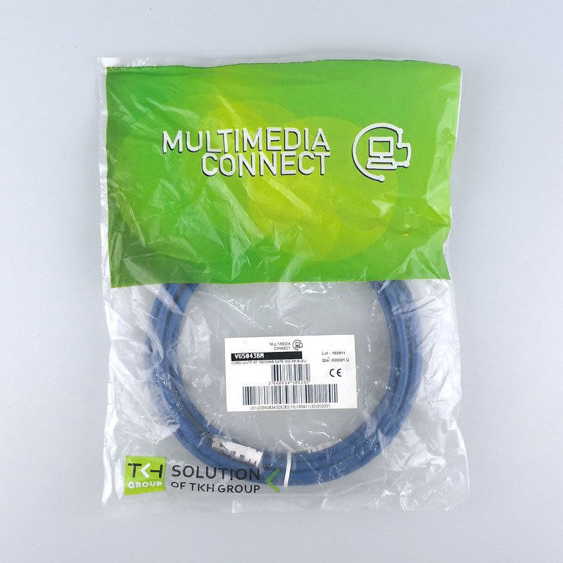 Cat6 Unshielded (U/UTP) Ethernet Network Cable PVC 3m Blue Patch Cord