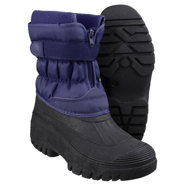Cotswold Chase Touch Fastening and Zip up Winter Boot