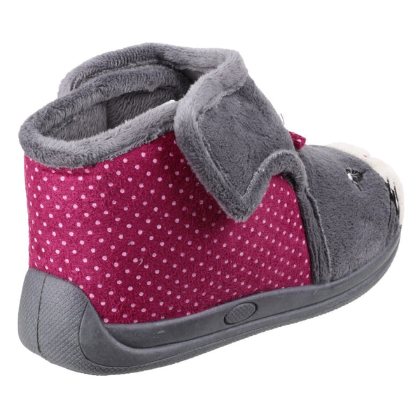 Mirak Kitty Touch Fastening Bootie Slipper