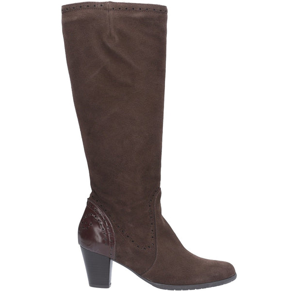 Riva Latina Suede Patent Leather Long Boot
