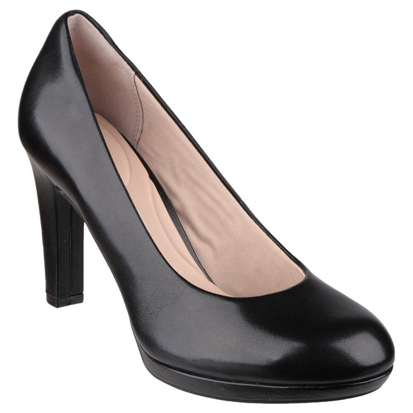 Rockport Seven To 7 Black Court Shoe