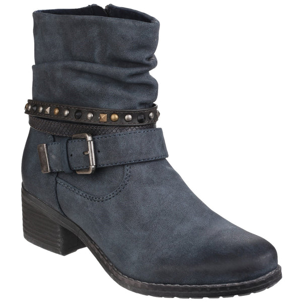 Divaz West Zip up Ankle Boot