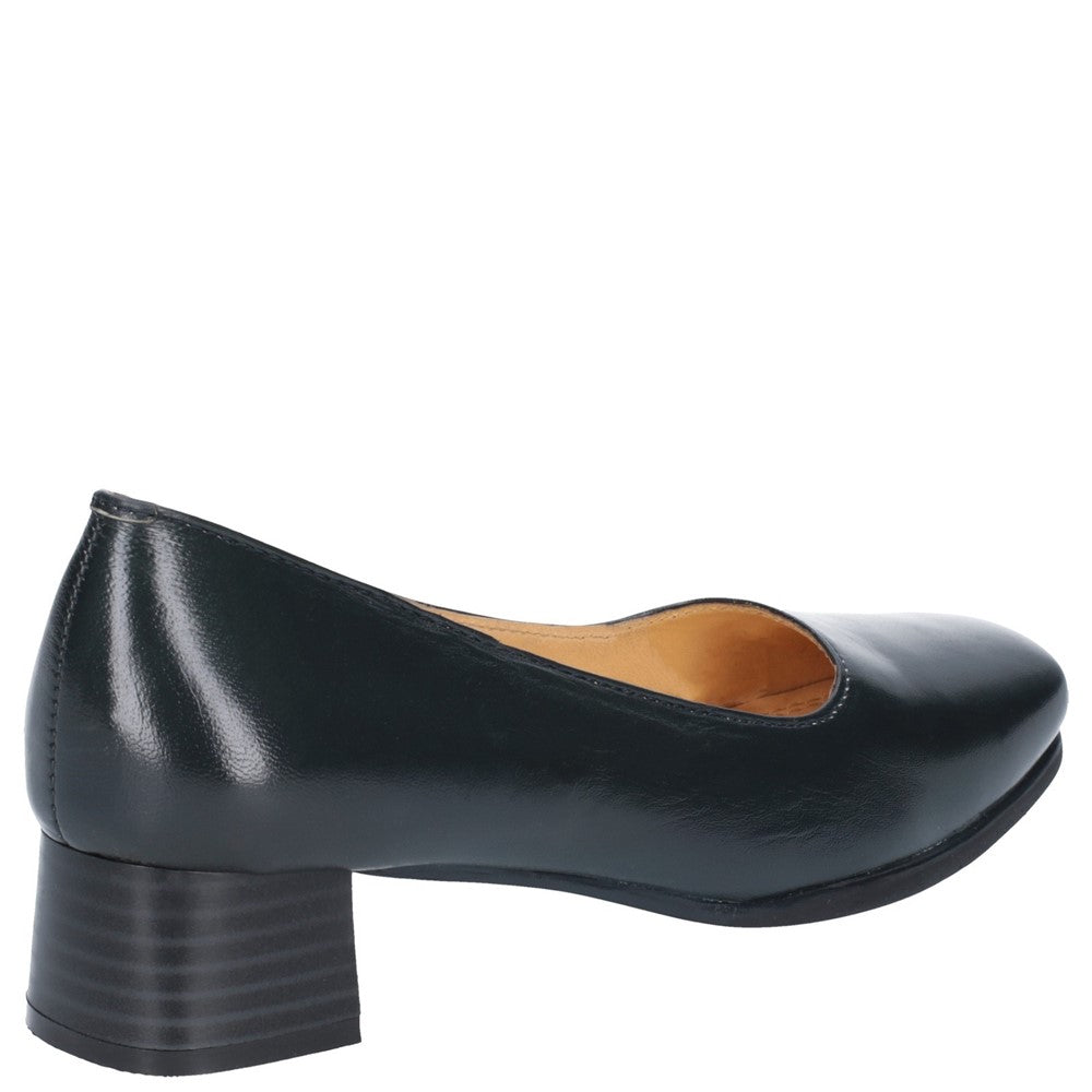 Amblers WALFORD Ladies Office Formal Comfort Leather Wide Fit Court Shoes Navy
