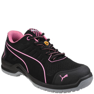 Puma Safety Fuse TC Pink Lightweight Ladies Lace up Safety Trainer