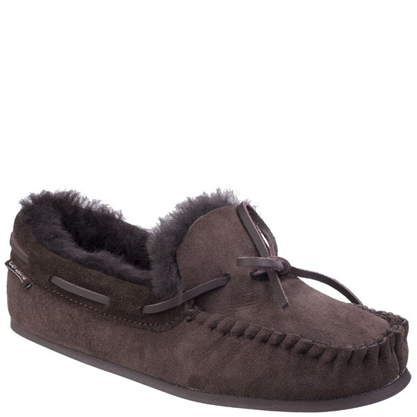 Cotswold Stanway Sheepskin Moccasin Slipper