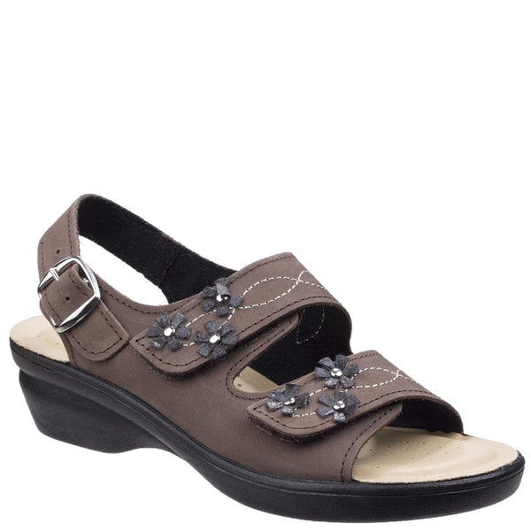 Fleet & Foster Amaretto Women's Touch Fastening Leather Sandal