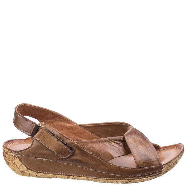 Riva Leona Low Wedge Leather Sandal