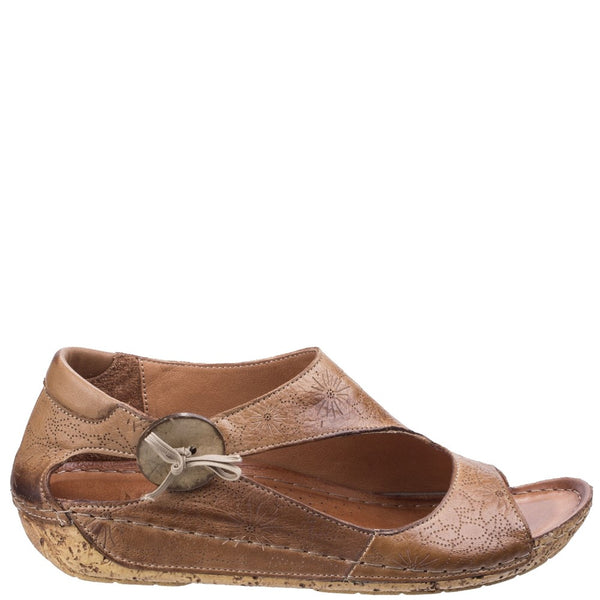 Riva Arlo Low Wedge Leather Sandal