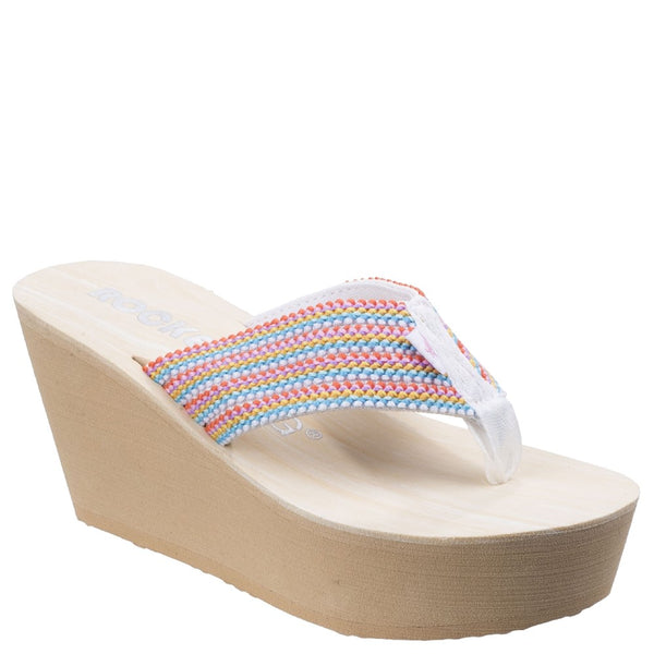 Rocket Dog Diver Groovy Stripe Wedge Sandal