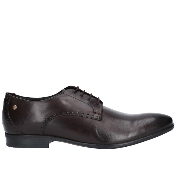 Base London Westbury Washed Plain Toe Derby Shoe