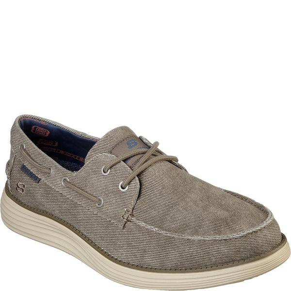 Skechers Status 2.0 Lorano Moc Toe Canvas Lace Up Shoe