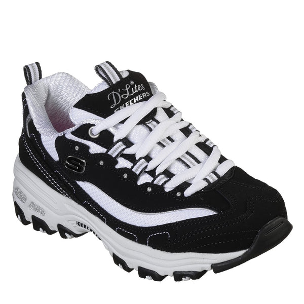 Skechers D'Lites - Biggest Fan Lace Up Trainer Air Cooled Memory Foam