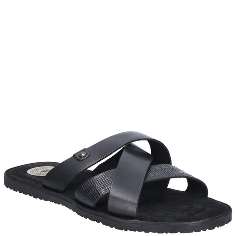 Base London Chariot Waxy Slip On Sandal