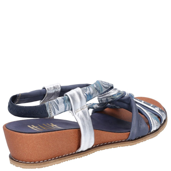 Riva Diamond Elasticated Sling Back Sandal