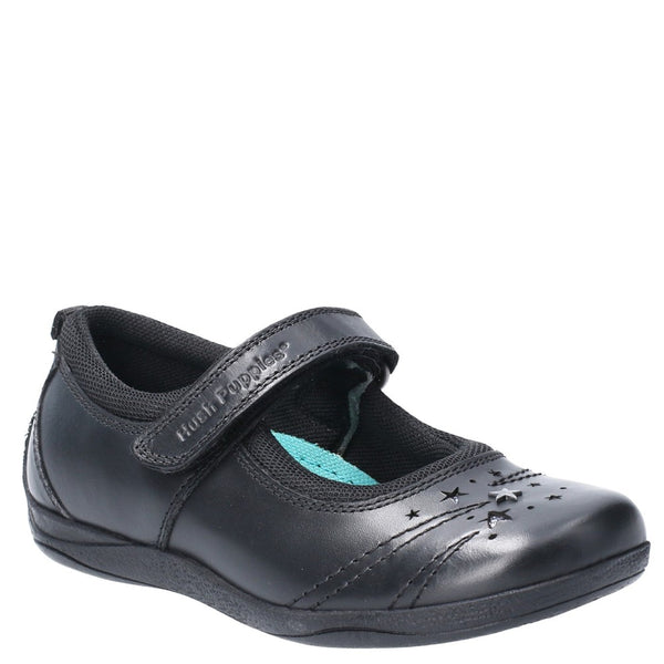 Hush Puppies Amber Jnr Touch Fastening School Shoe