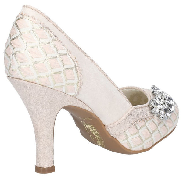 Ruby Shoo Fabia Jewel Trimmed Occasion Slip On Court Shoe