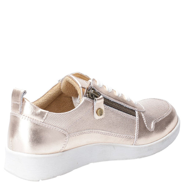 Hush Puppies Roo Zip Up Lace Up Trainer