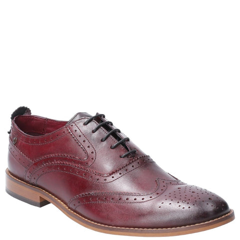 Base London Focus Washed Lace Up Brogue Shoe
