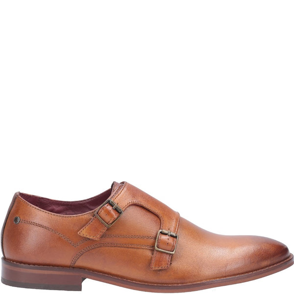 Base London Montage Washed Buckle Up Monk Shoe