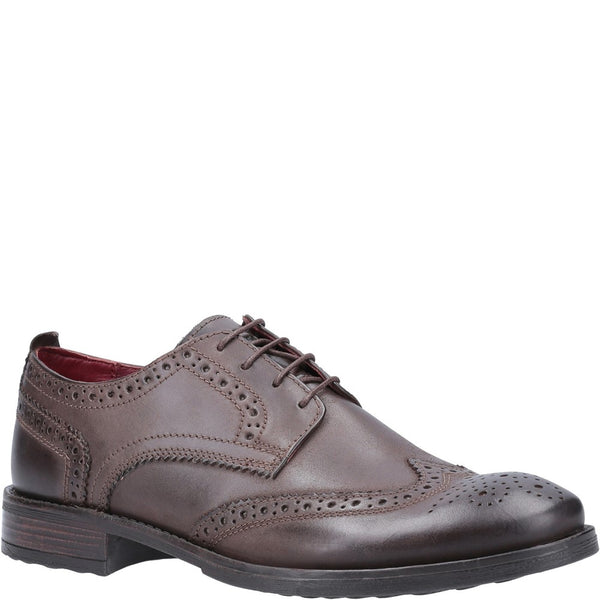 Base London Porter Burnished Lace Up Brogue Shoe