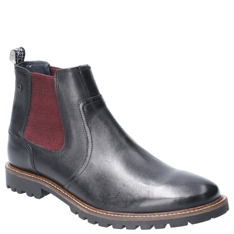 Base London Wilkes Waxy Pull On Chelsea Boot