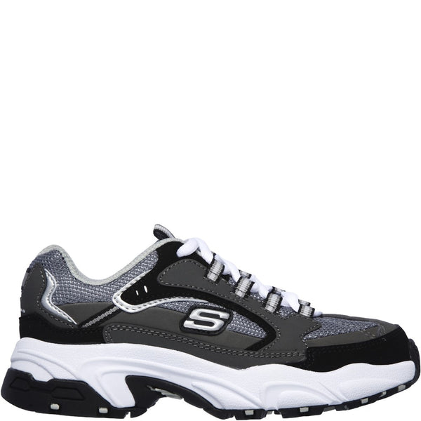 Skechers Stamina-Cutback Lace Up Trainer with Durable Rubber Outsole