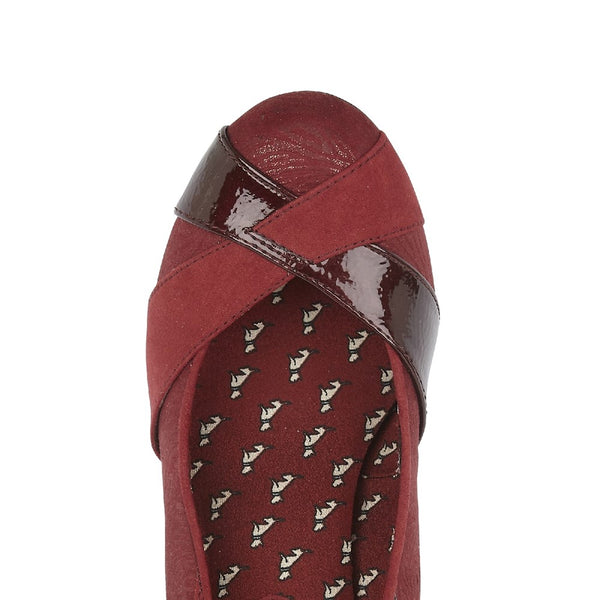 Ruby Shoo Lulu Slip On Court Shoe