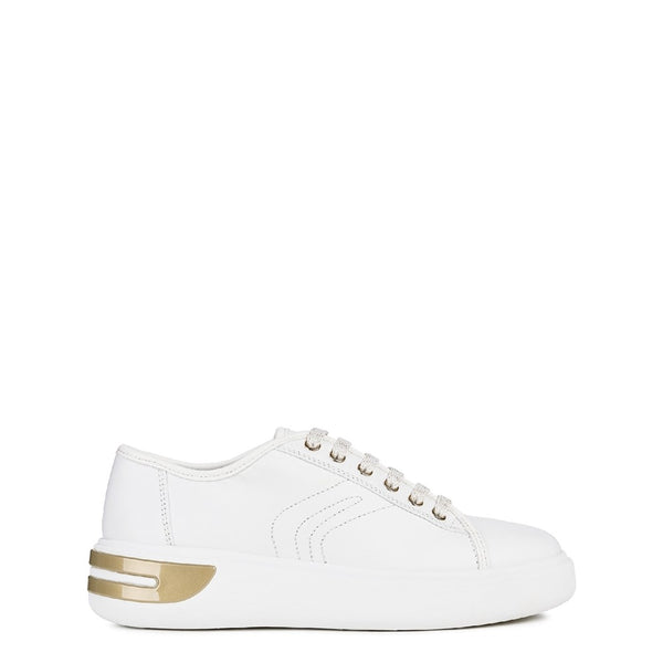 Geox D Ottaya A Lace Up Leather Trainers