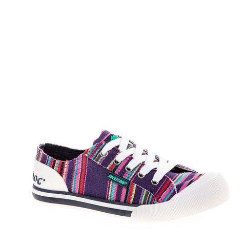 Rocket Dog Jazzin Canvas Aloe Lace Up Trainer