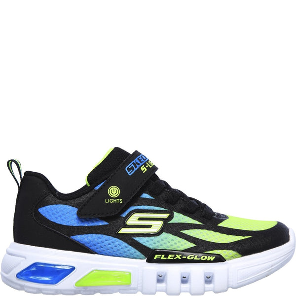 Skechers S Lights Flex-Glow Dezlo Touch Fastening Trainer