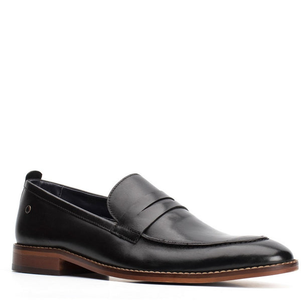 Base London Lens Waxy Slip On Loafer