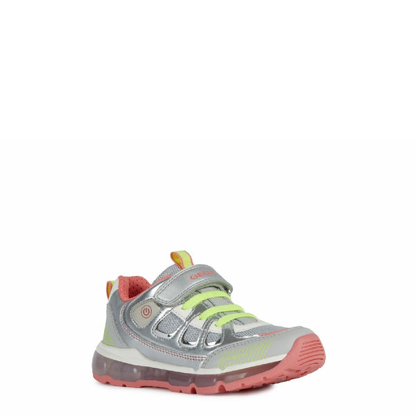 Geox J Android Girl C Lace up and Touch Fastening Trainer