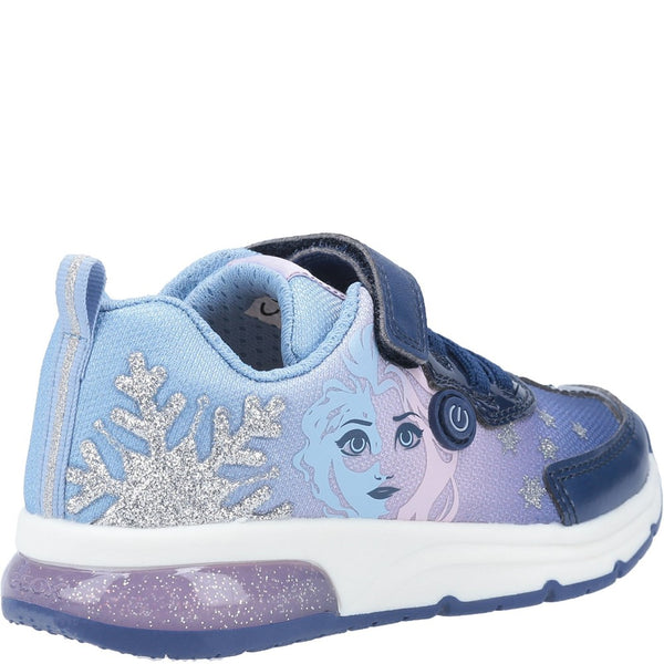 Geox J Spaceclub Girl D FROZEN Touch Fastening Trainer