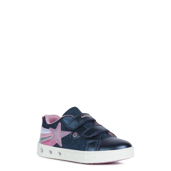 Geox J Skylin Girl C Touch Fastening Trainer