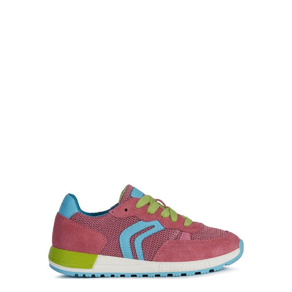 Geox J Alben Girl B Lace Up Trainer
