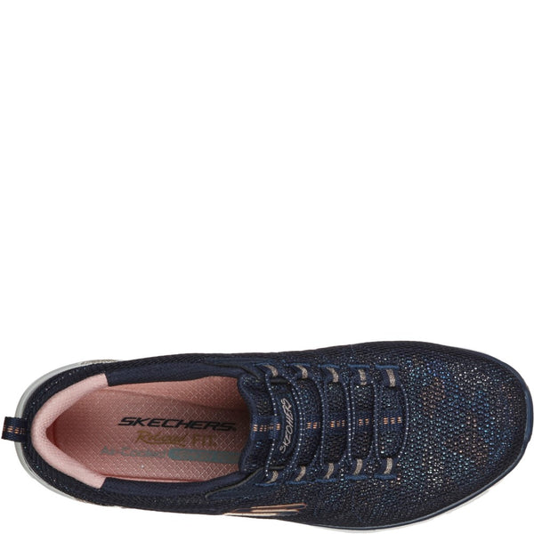 Skechers Relaxed Fit Empire D'Lux Bungee Laced Trainer