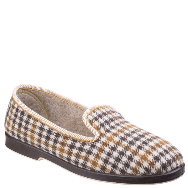 GBS Everett Mens Check Slipper