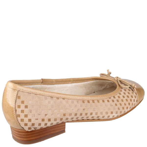 Riva Andros Patent/Suede women's Ballerina