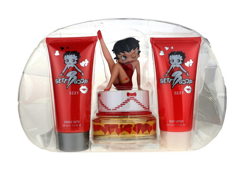 Betty Boop Sexy 3 Piece Gift Set EDP 2.5Oz + Body Lotion & Bubble Bath 3.4Oz