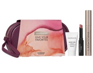 Bareminerals Give Your Favorites 3-Pcs Makeup Set  / New With Box