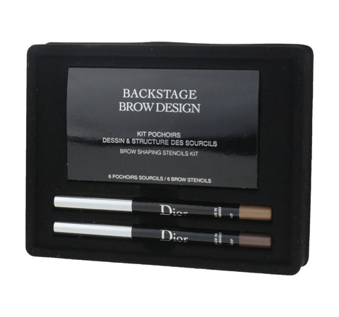 Christian Dior Backstage Brow Design Brow Shaping Stencils Kit 0.08oz New In Box