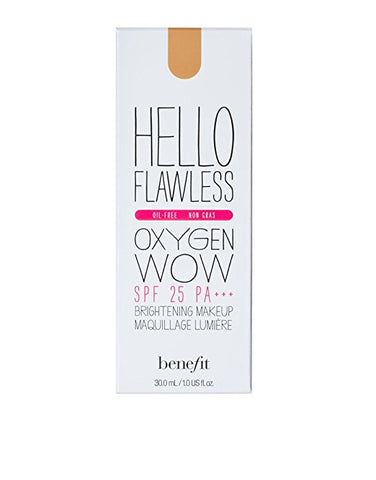 Benefit Hello Flawless Oxygen Wow! Liquid Foundation 'Nutmeg' 1oz/30ml New InBox