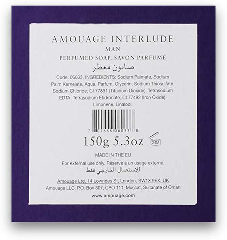 Amouage Interlude Man Perfumed Soap 5.3oz/150g New in Box