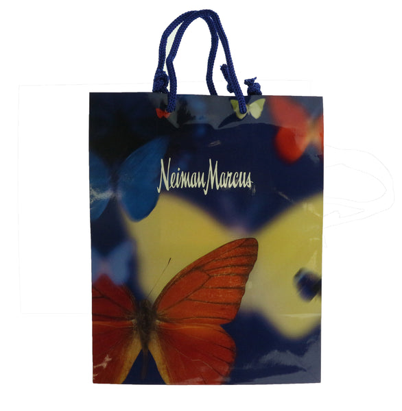 Neiman Marcus 'Blue With Butterflies' Gift Paper Bag New Gift Bag