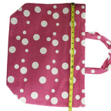 Women's Large Pink And White Polka Dot Tote Bag New