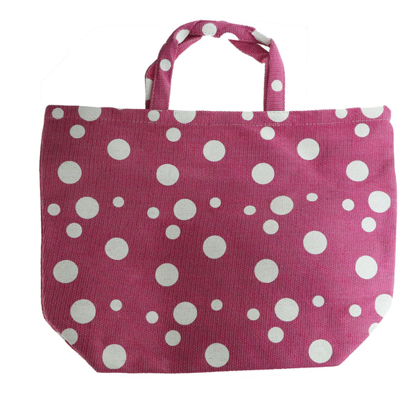 Women's Large Pink And White Polka Dot Tote Bag New Tote Bag